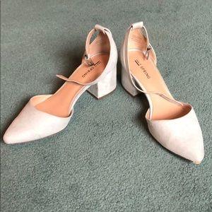"Light blue 1.5"" heels"
